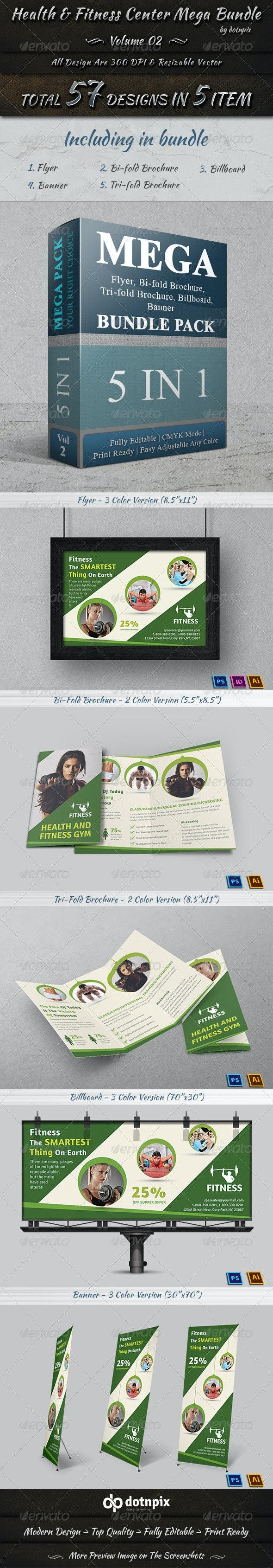 Health & Fitness Center Mega Bundle | Volume 2 - Print Templates