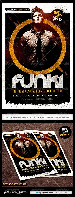 DJ Flyer Template PSD - Clubs & Parties Events