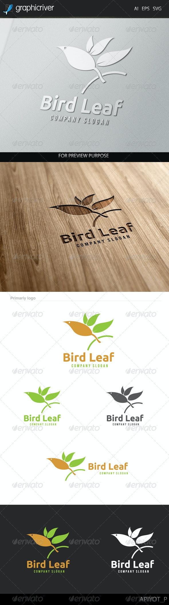 Bird Leaf Logo - Animals Logo Templates