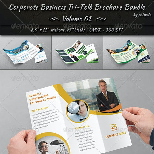 Corporate Business Tri-Fold Brochure Bundle | v1