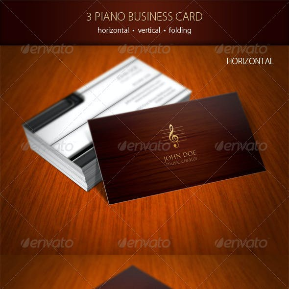 3 Piano Business Card