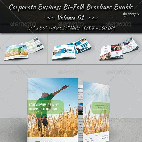 Corporate Business Bi-Fold Brochure Bundle | v1