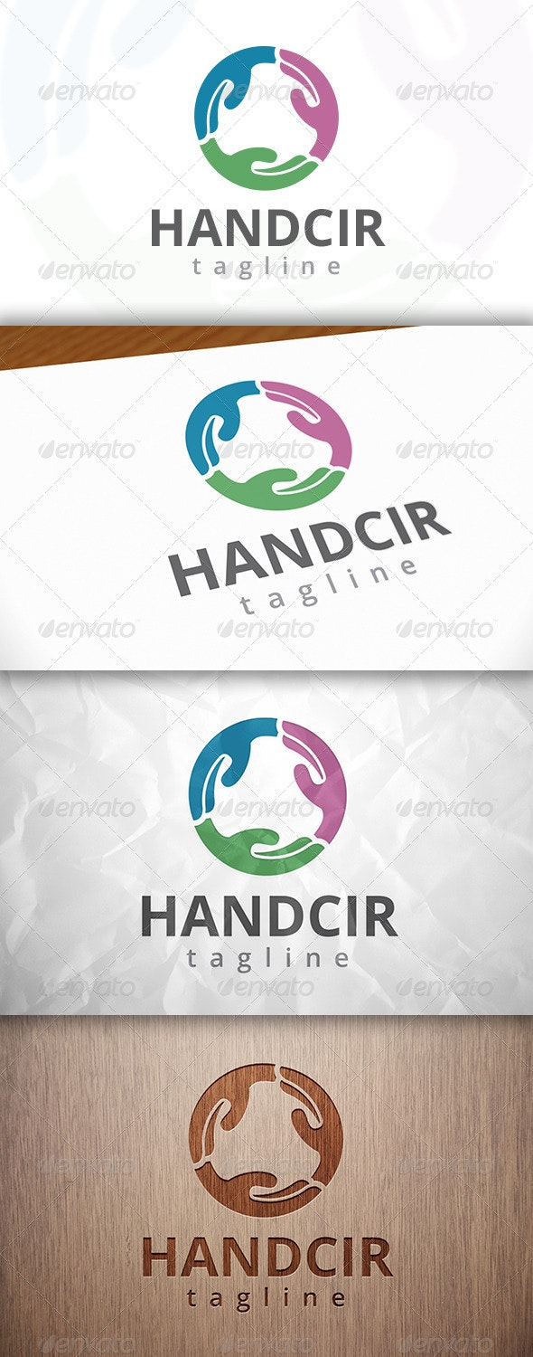 Hand Circle Logo - Objects Logo Templates