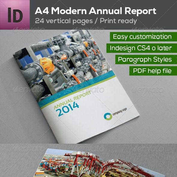 A4 Annual Report Brochure 24 pages