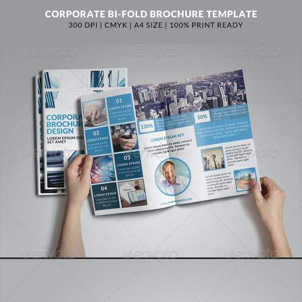 Corporate Bi-Fold Brochures Template 6