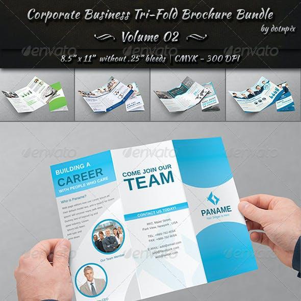 Corporate Business Tri-Fold Brochure Bundle | v2