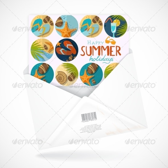Postal Envelopes With Greeting Card - Travel Conceptual