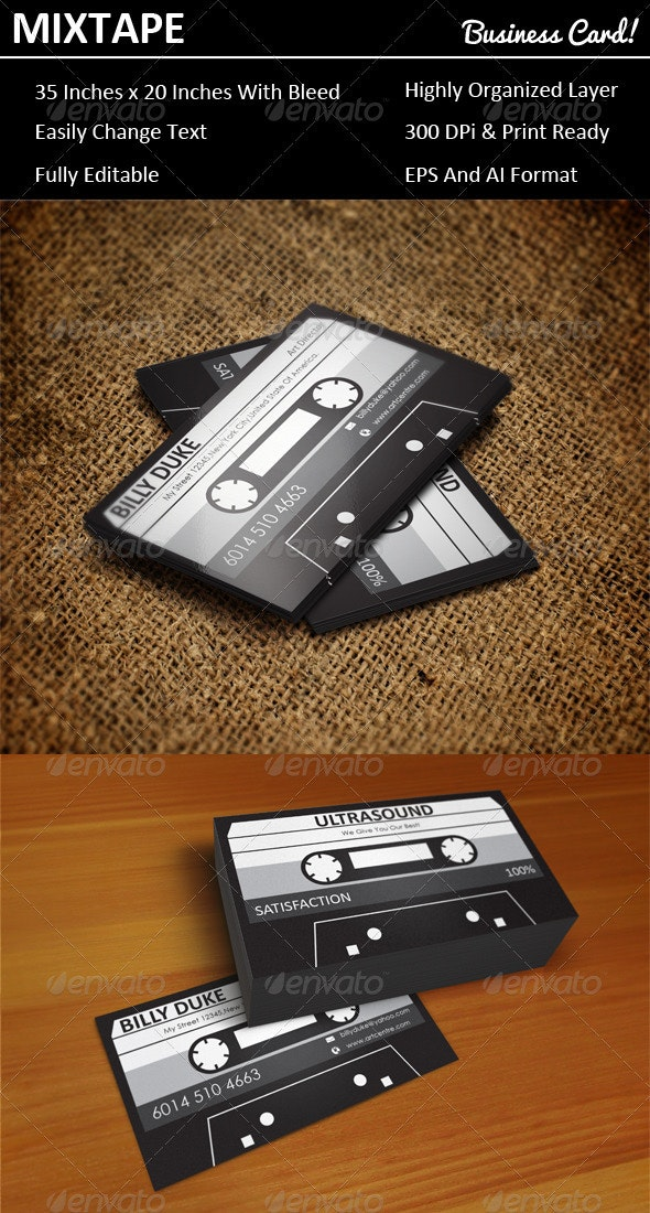 Mixtape Business Card - Real Objects Business Cards