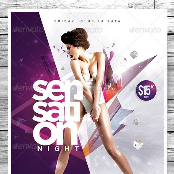 Flyer Sensation Night Party
