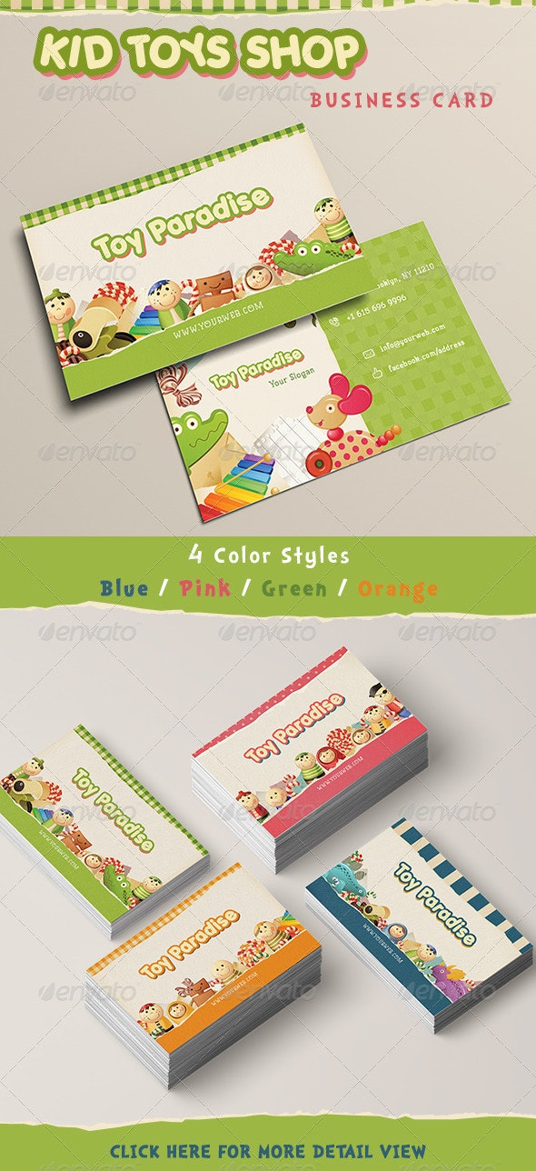 Kid Toy Paradise Business Card - Industry Specific Business Cards