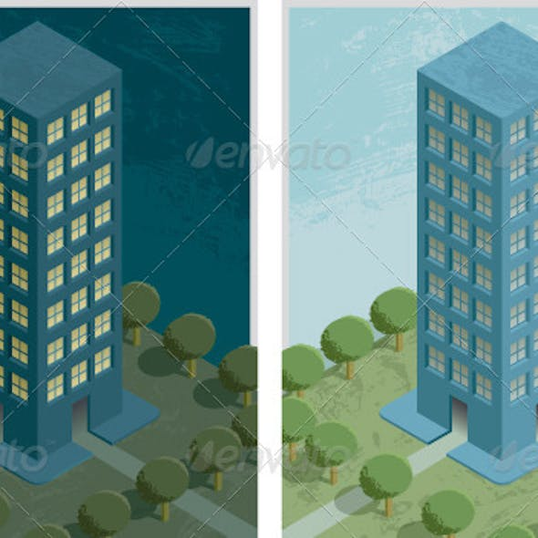 Residential Building Night and Day