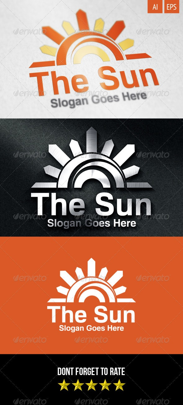 The Sun Logo - Nature Logo Templates