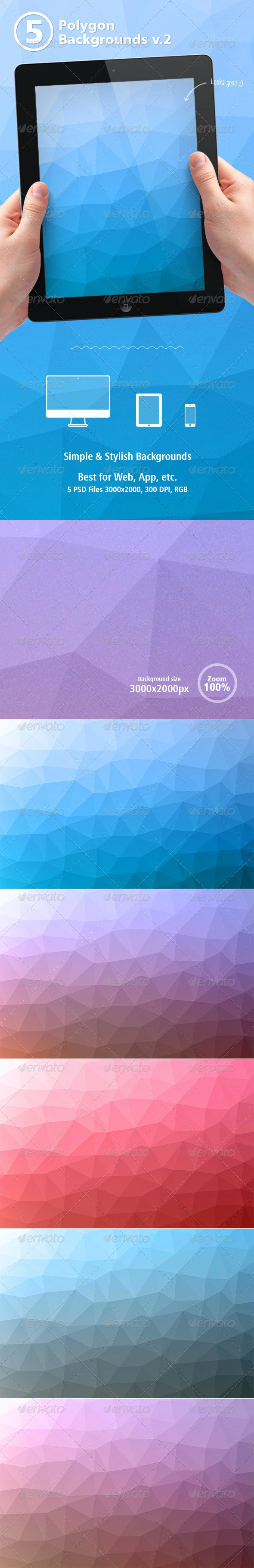 Polygon Backgrounds vol.2 - Abstract Backgrounds