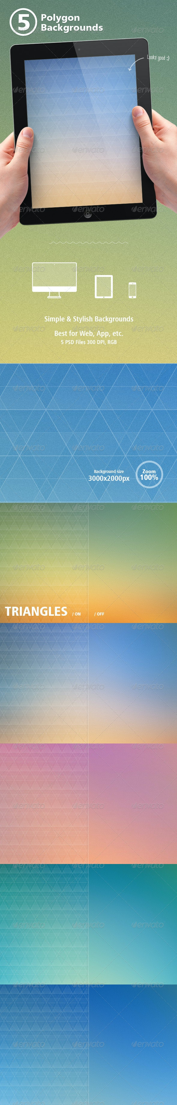 Triangles / Blur Backgrounds - Abstract Backgrounds