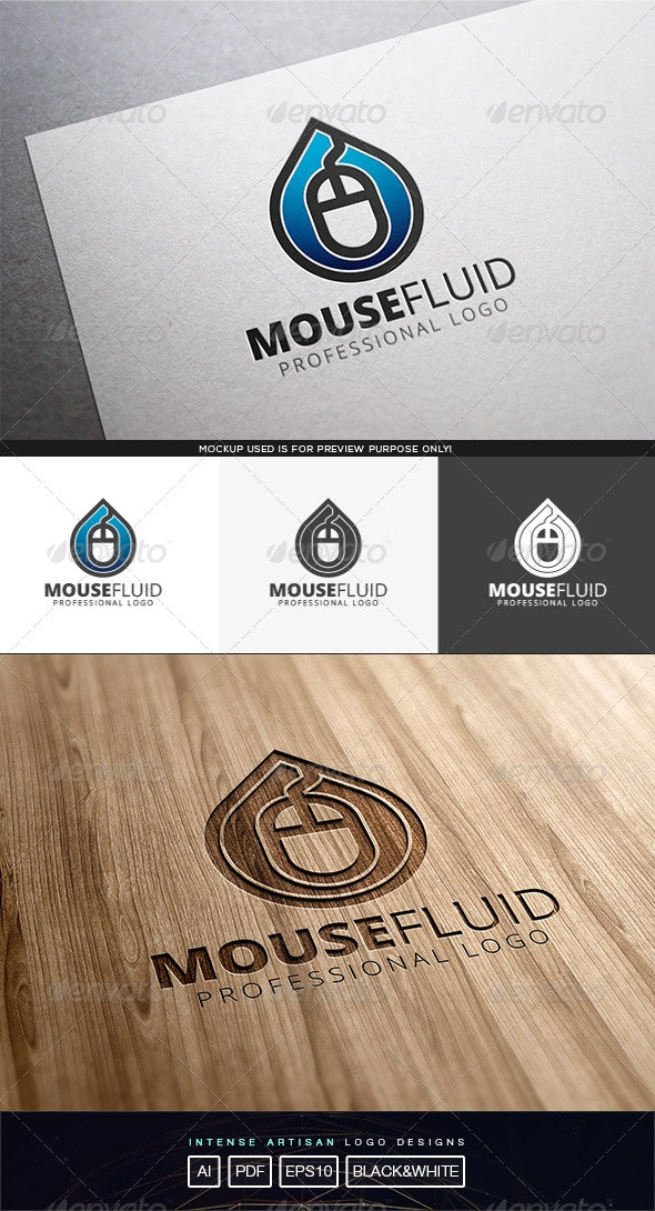 Mouse Fluid Logo Template - Objects Logo Templates