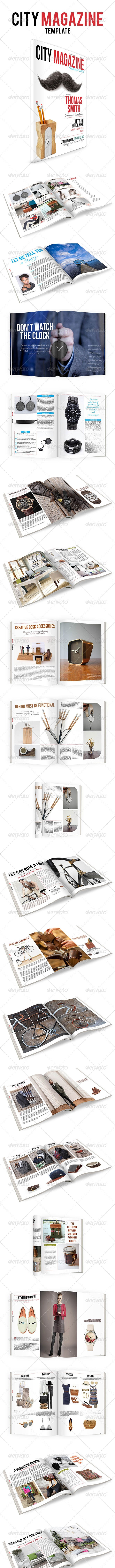 50 Pages City Magazine Template - Magazines Print Templates