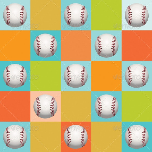 Baseball Pattern Background - Sports/Activity Conceptual