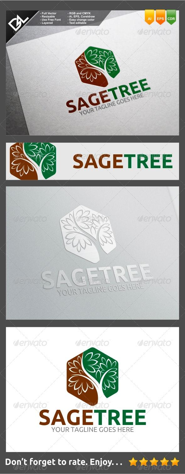 Sage Tree - Nature Logo Templates