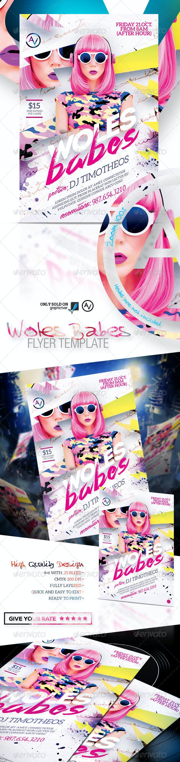 Woles Babes Flyer Template - Clubs & Parties Events