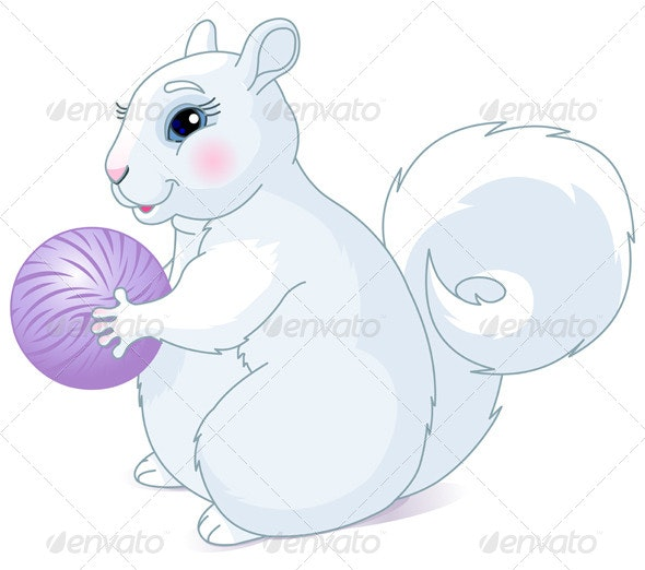 White Squirrel - Animals Characters
