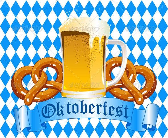 Oktoberfest Celebration Background - Food Objects