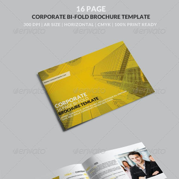 16 Page Corporate Horizontal A4 Bi-Fold Brochure