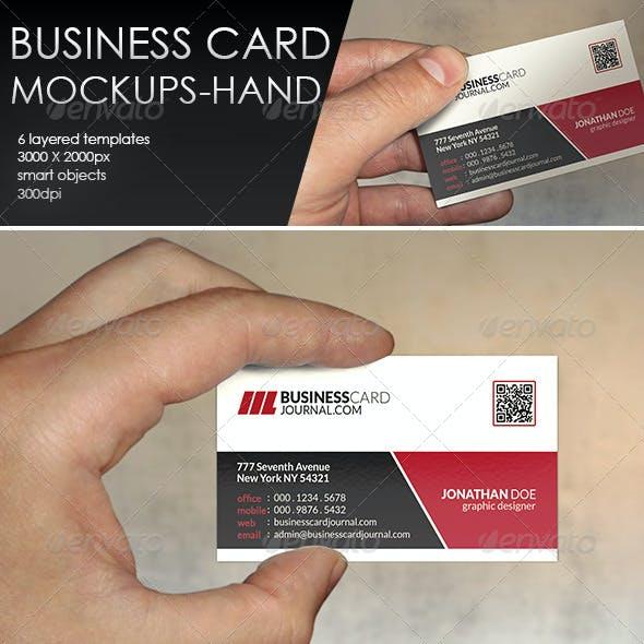 Business Card MockUp-Hand