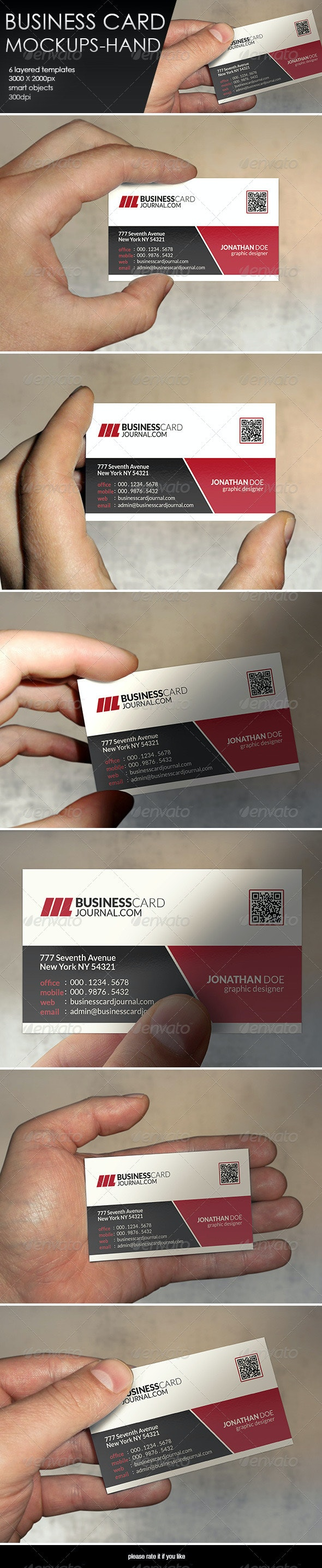 Business Card MockUp-Hand - Business Cards Print