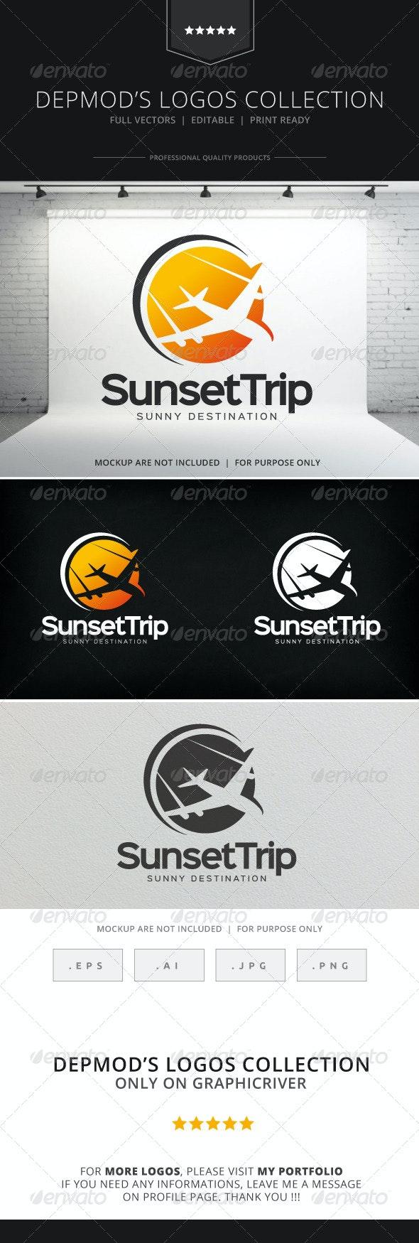 Sunset Trip Logo - Symbols Logo Templates