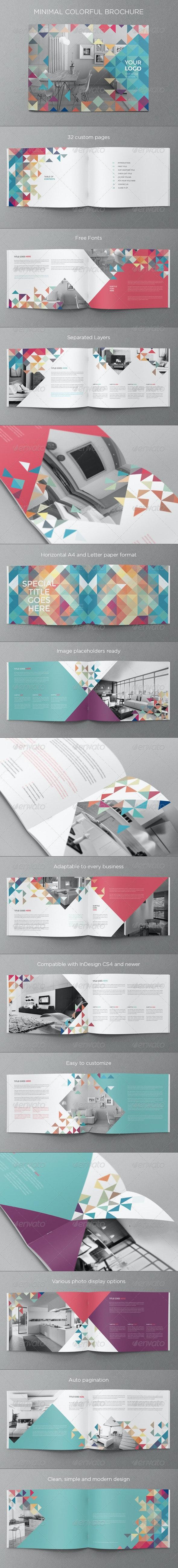 Minimal Colorful Brochure - Brochures Print Templates
