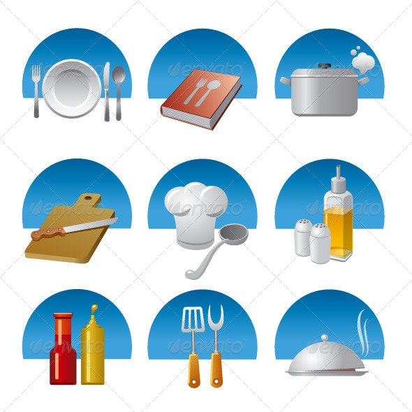 Cooking Icon Set - Objects Icons