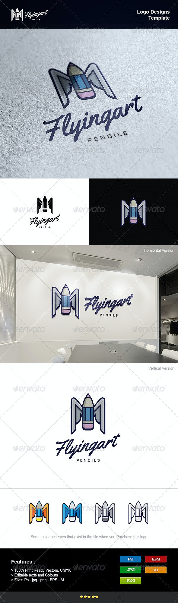 Flying Art - Objects Logo Templates
