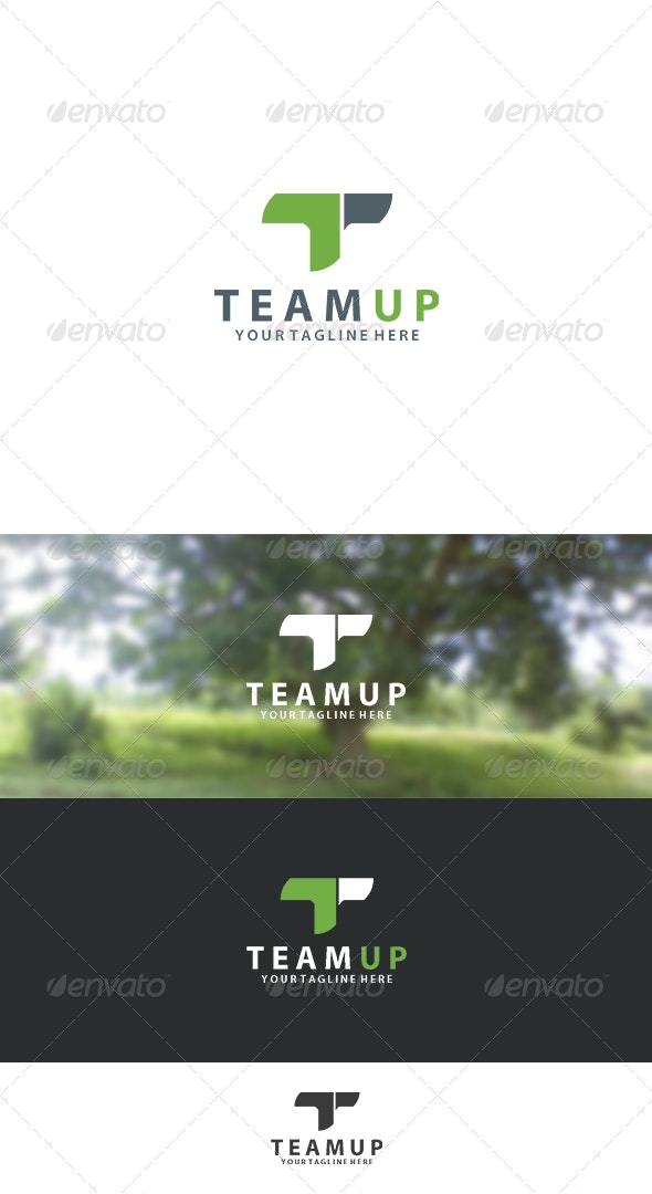 Team Up Logo - Letters Logo Templates