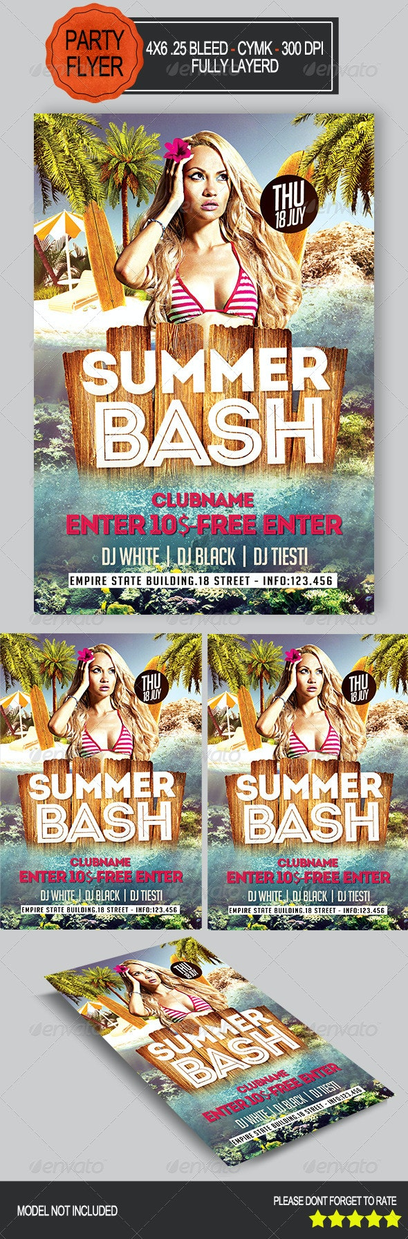 Summer Bash Party   - Clubs & Parties Events