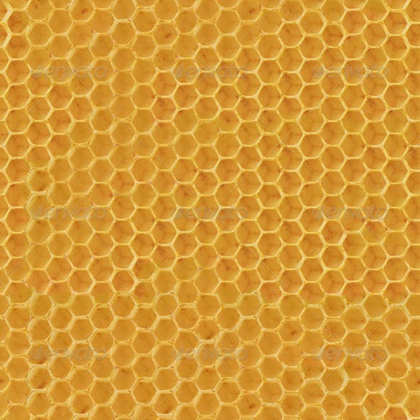 Realistic Seamless Honeycomb Texture