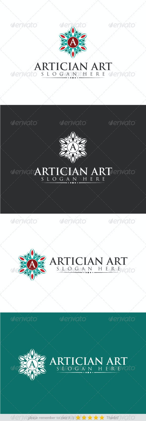 Artician Art - Crests Logo Templates