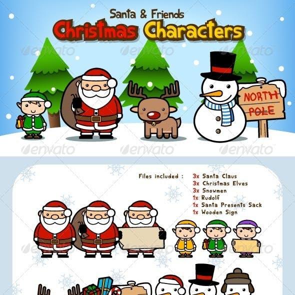 Santa Claus Christmas Characters