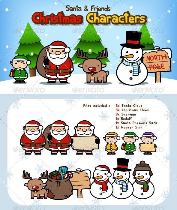 Santa Claus Christmas Characters - Christmas Seasons/Holidays