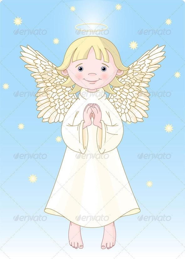 Cute Angel - Religion Conceptual