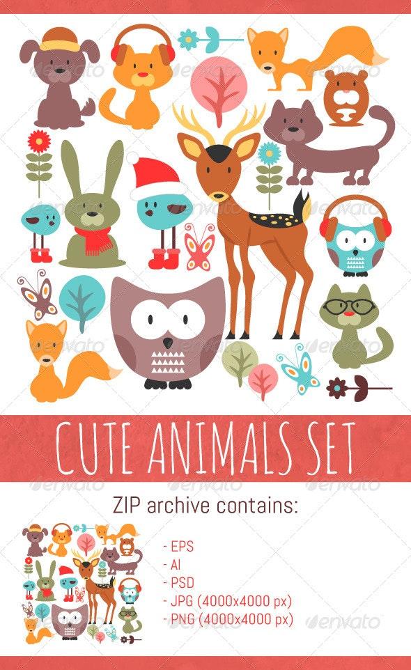 Animals Set - Animals Characters
