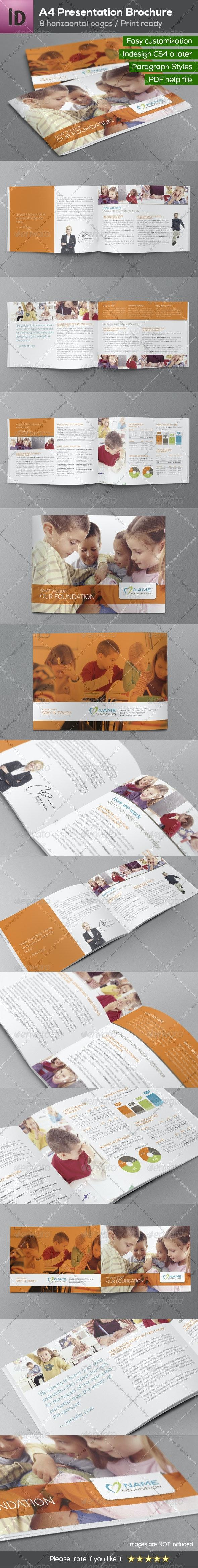 A4 Presentation Brochure 8 pages - Brochures Print Templates