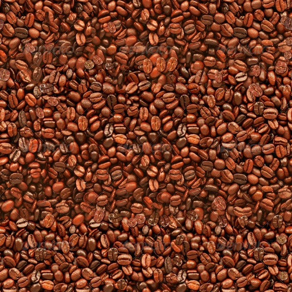Seamless Coffee Beans Texture Background - Nature Textures