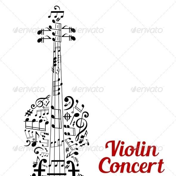 Violin Concert Poster Design