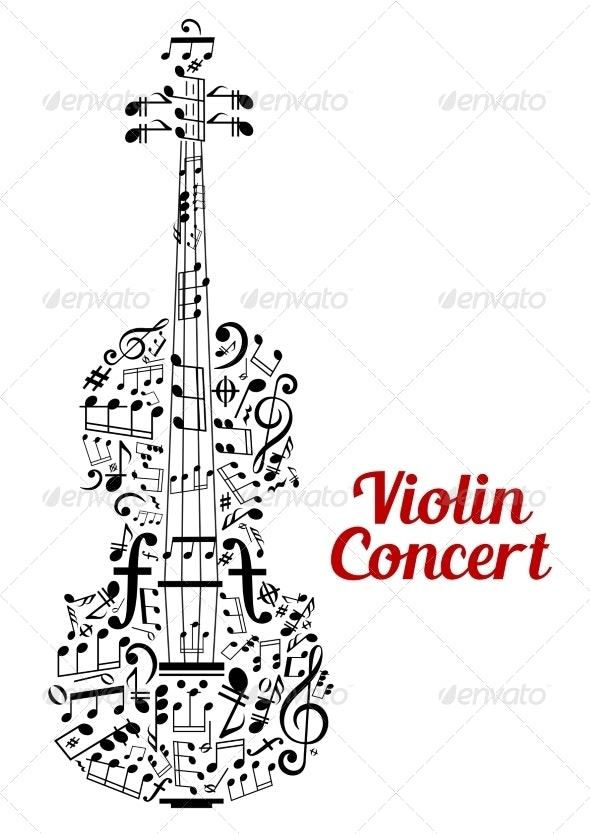 Violin Concert Poster Design - Miscellaneous Conceptual