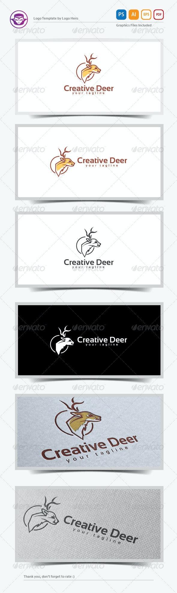 Creative Deer Logo Template - Animals Logo Templates