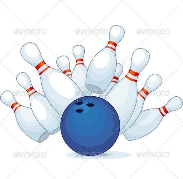 Bowling - Sports/Activity Conceptual