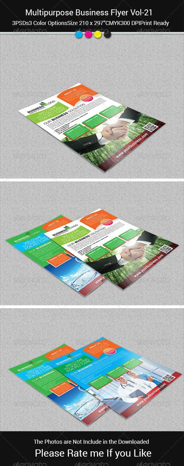 Multipurpose Business Flayer Vol-21 - Flyers Print Templates