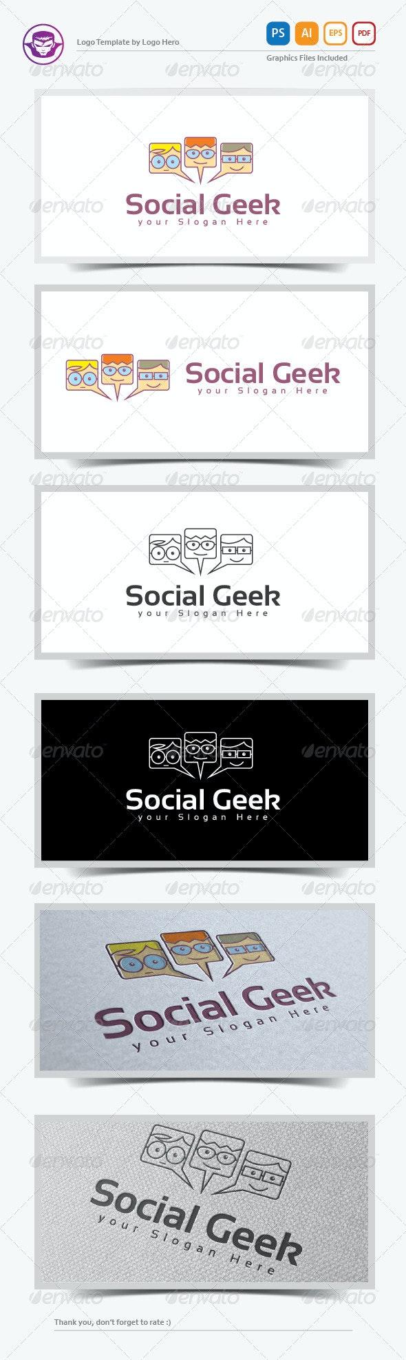 Social Geek Logo Template - Humans Logo Templates