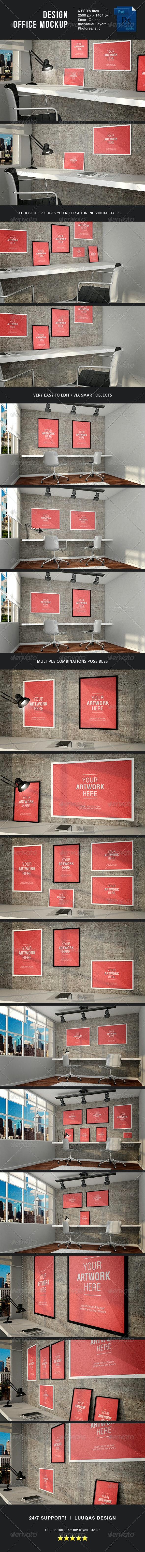 Design Office MockUp - Posters Print