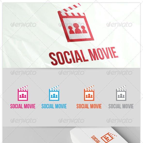 Social Movie Tube Streaming People Logo